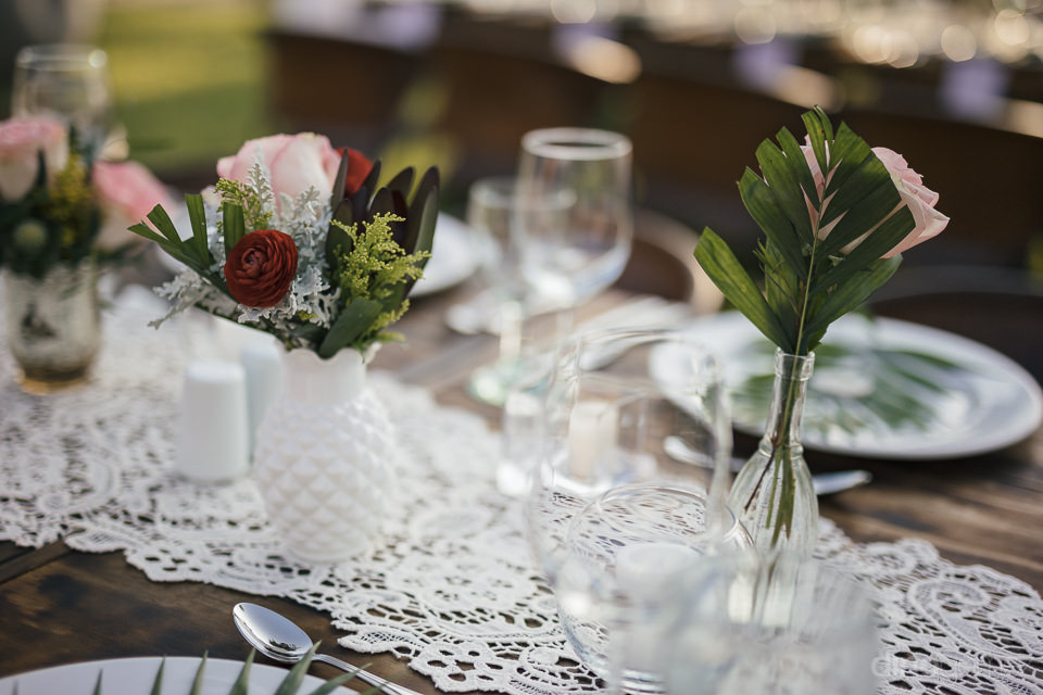 wedding place setting at rancho pescadero destination wedding by