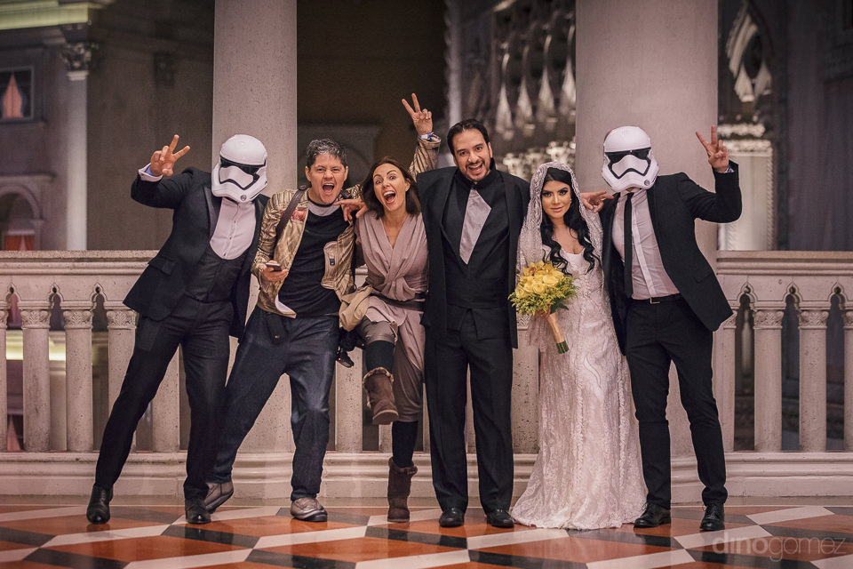 theme wedding photographer in las vegas dino gomez with star war