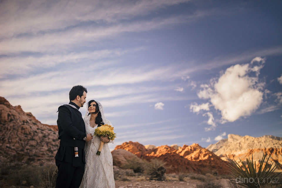 jedi newlyweds in remote desert location wedding photo session w