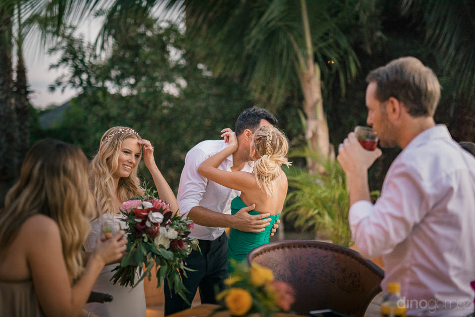 newlyweds thank guests for travelling to todos santos to attend