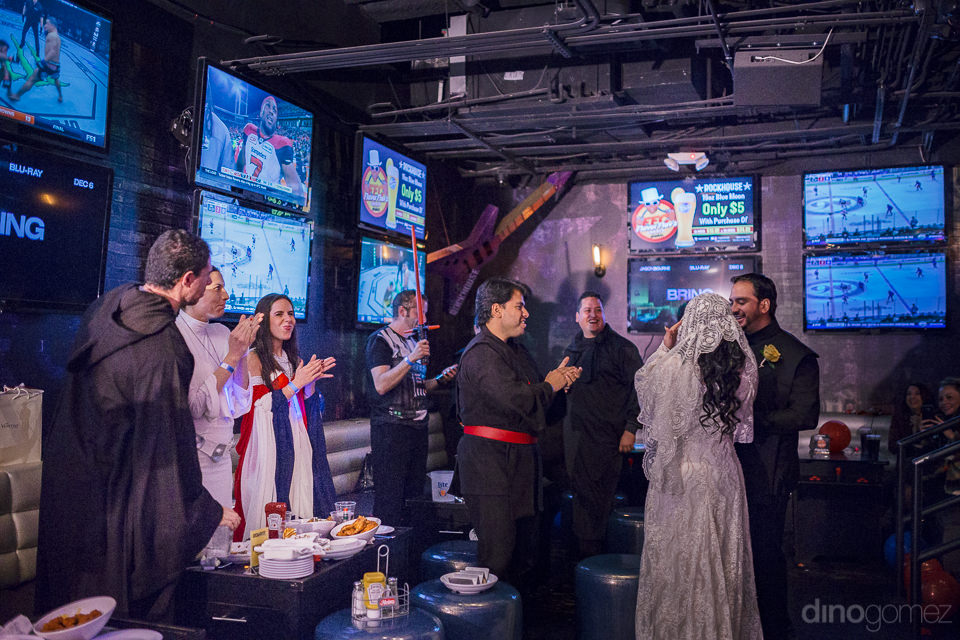 rockhouse dive bar at venetian hotel party after star wars weddi