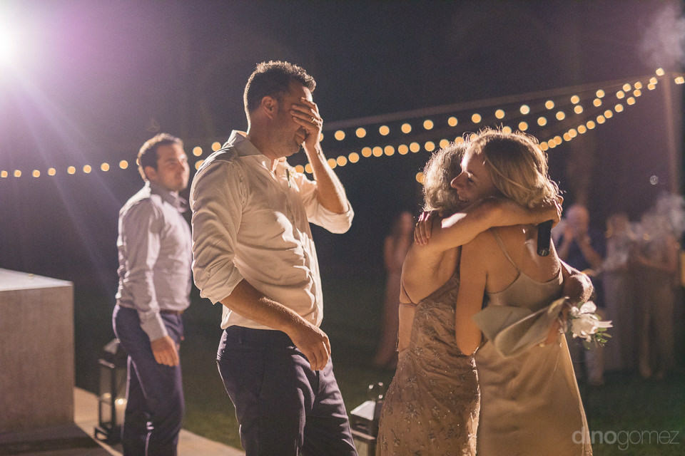 heartwarming moment on dance floor newlyweds overcome with joy j