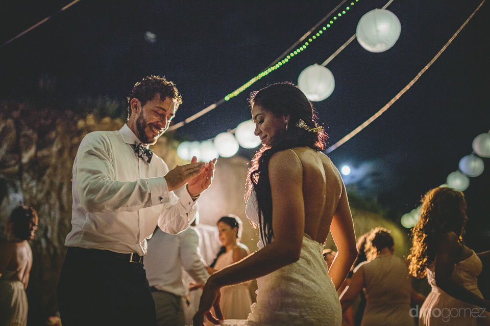 incredible destination wedding newlyweds spend night dancing wit