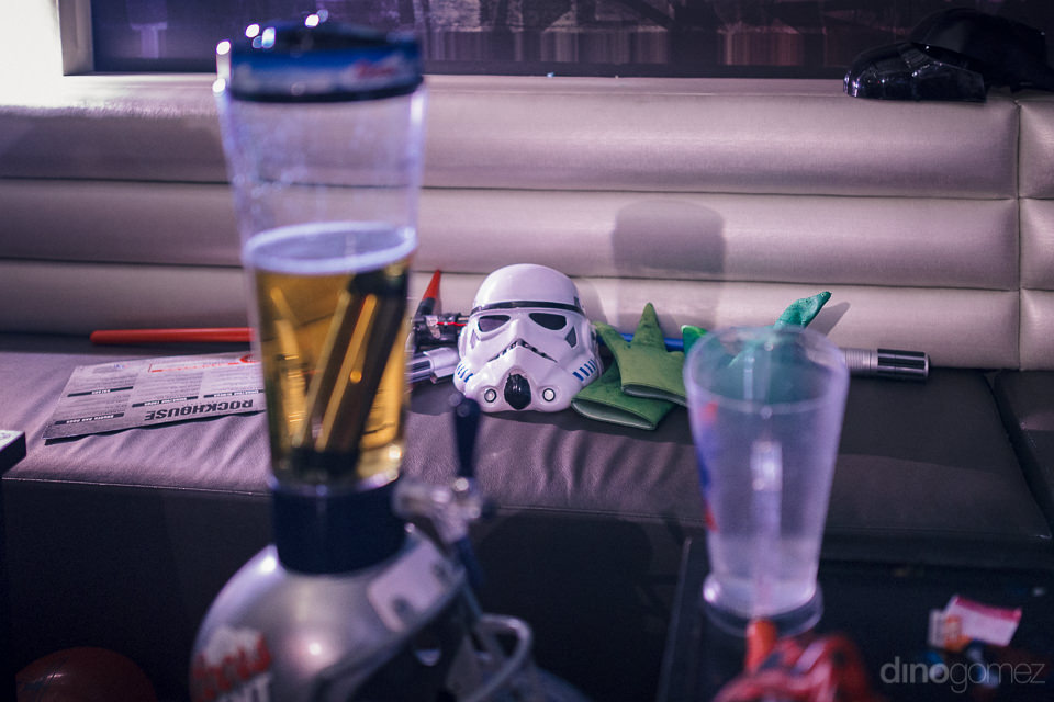 star wars props and costumes used for theme wedding in las vegas