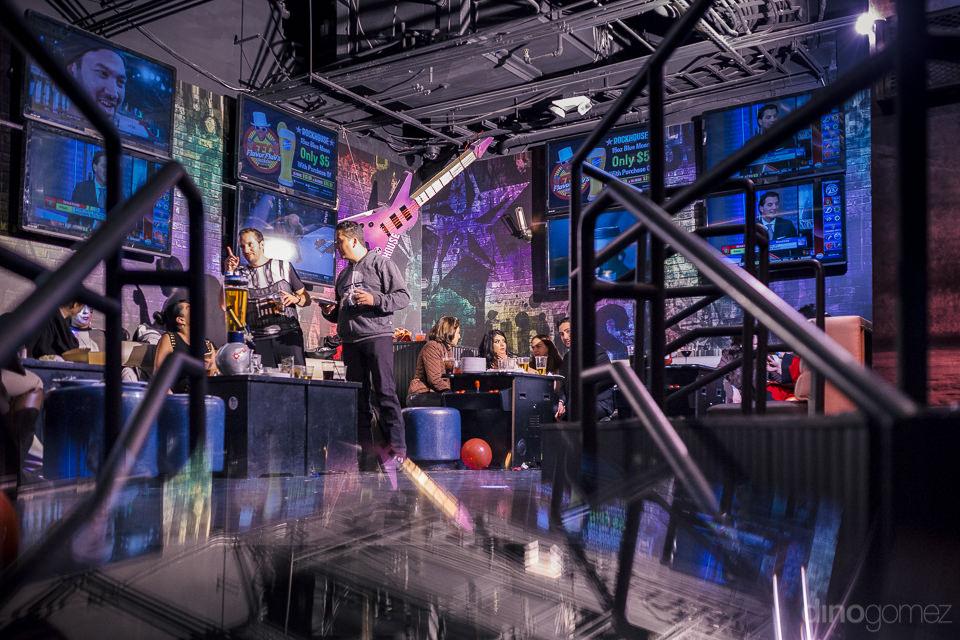 inside rockhouse ultra-dive bar photos of wedding reception by d