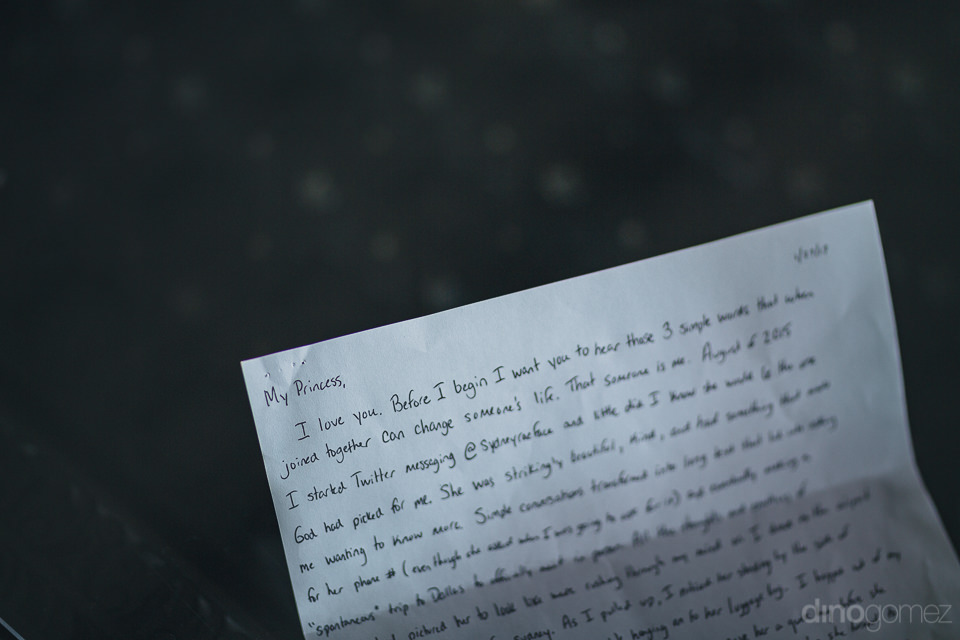 paper with handwritten wedding vows written on it