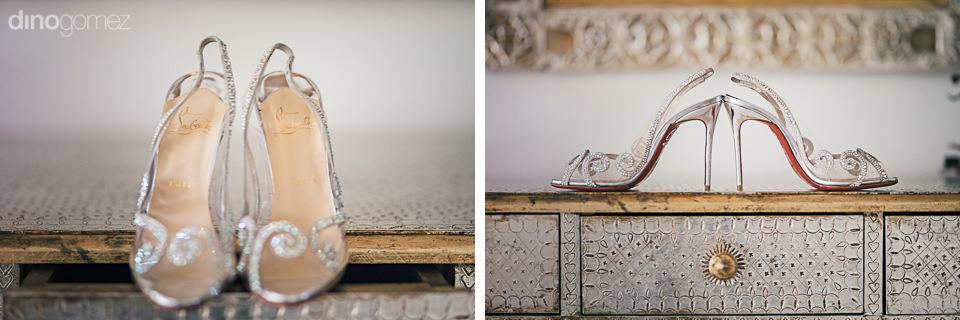 luxury designer wedding shoes at cabo destination wedding