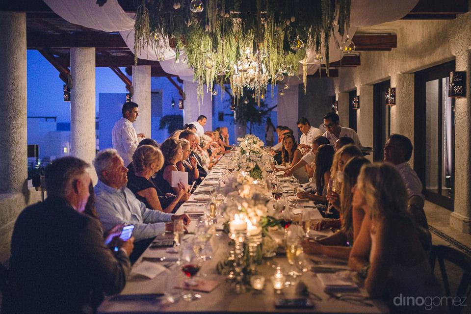 high-end wedding dinner at las ventanas al paraiso in cabo