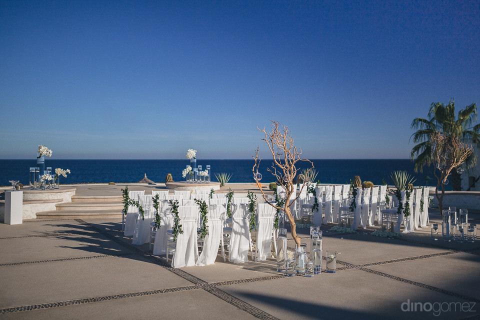 dream wedding outdoors overlooking ocean in cabo san lucas mexic
