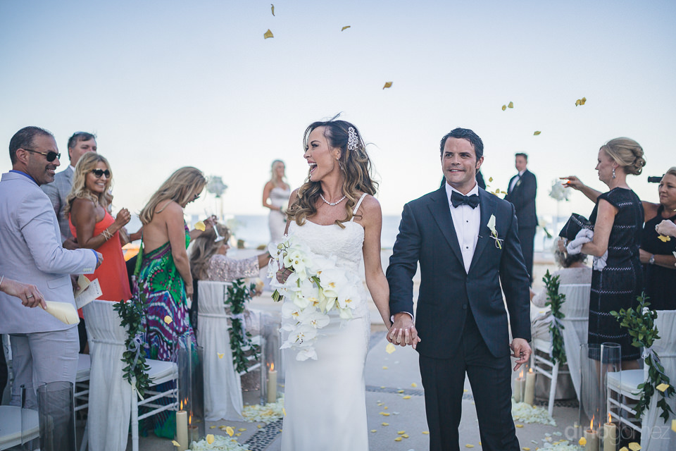 guests from around the world attend luxury wedding ceremony in l