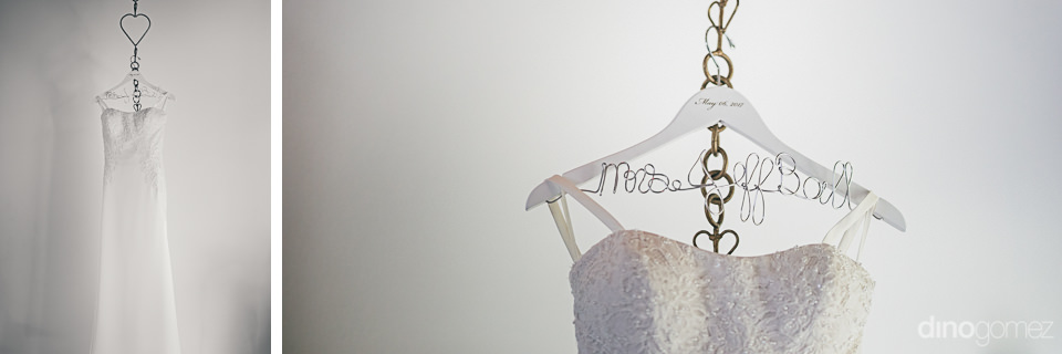 luxury white wedding dress before high-end wedding in cabo photo