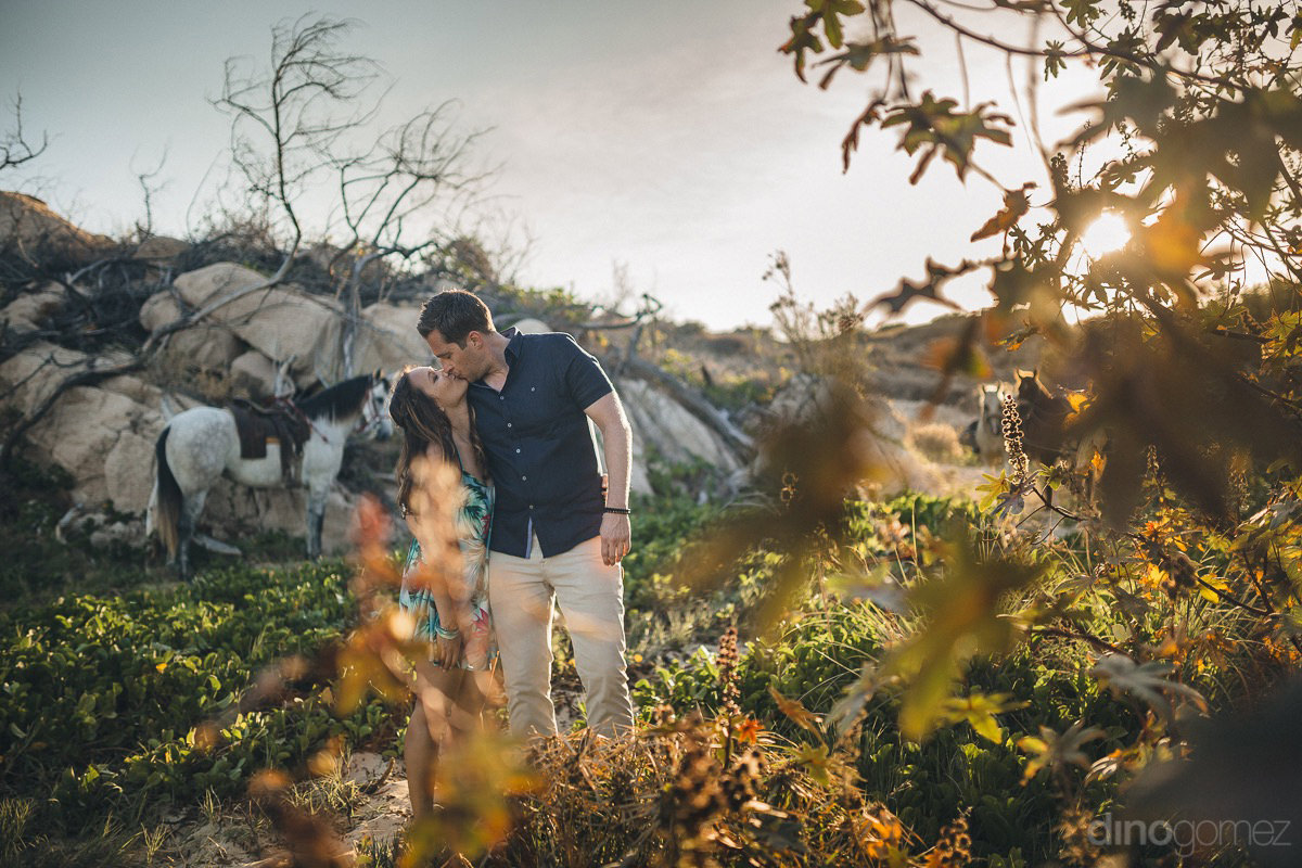 magical beautiful dreamy romantic engagement photo in los cabos