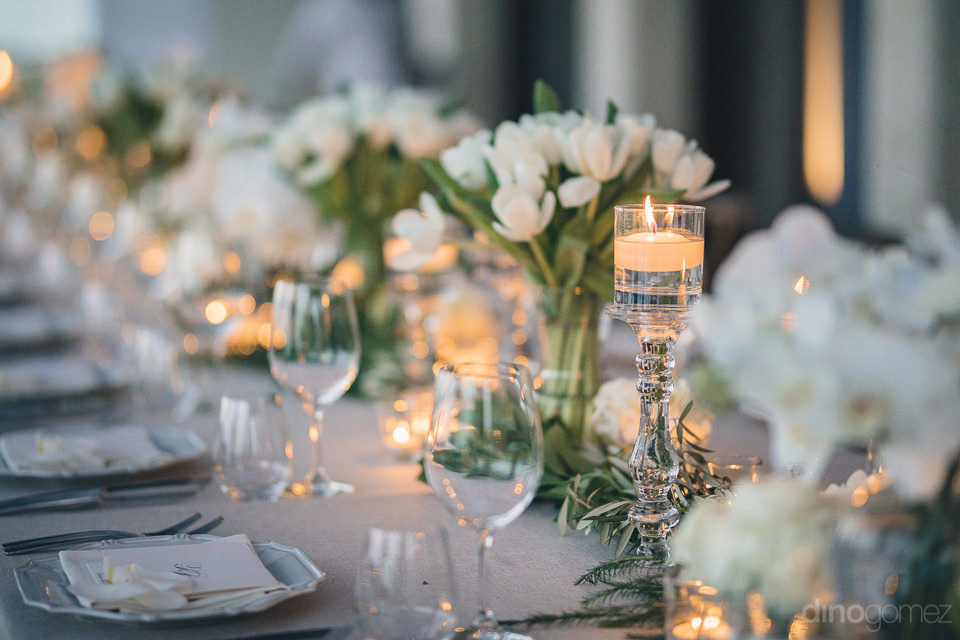 luxury wedding florist cabo floral studio dinner table photo by