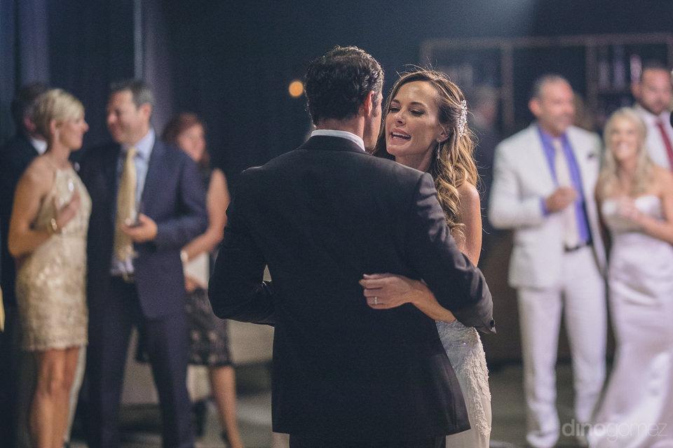 luxury wedding reception newlyweds dancing