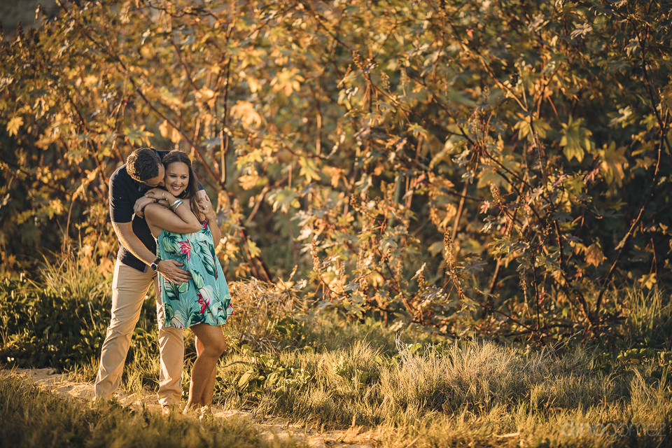 couple walk in nature in romantic outdoors photo by dino gomez