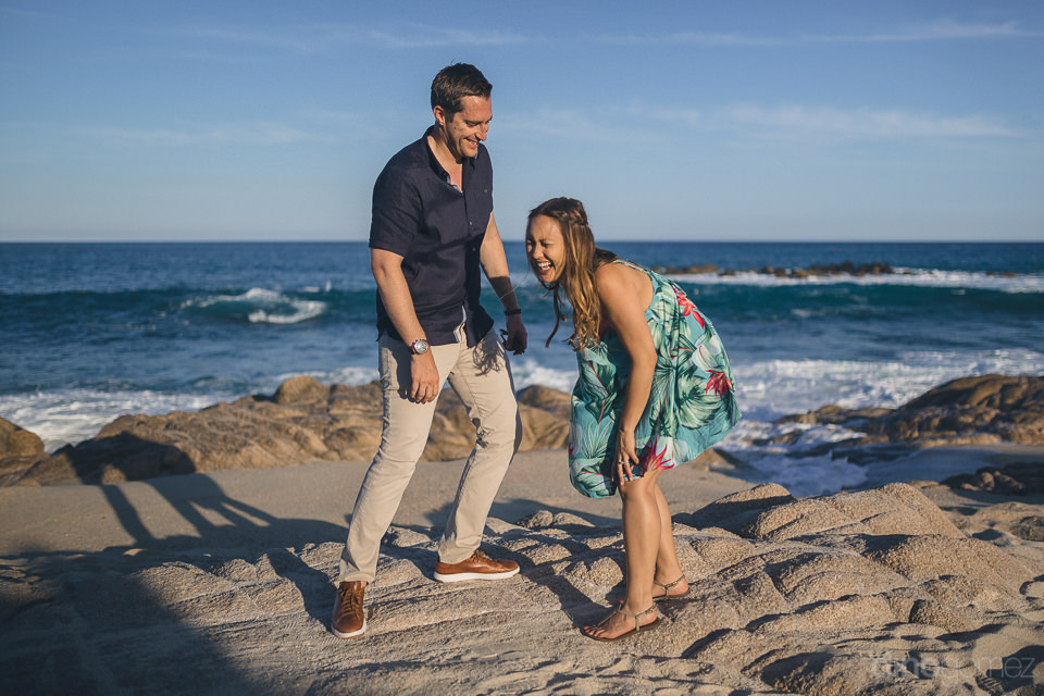 fun photo session on beach in cabo engagement dino gomez cabo ph
