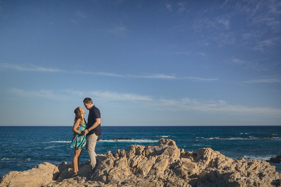 engagement photo session on the beach in cabo with dino gomez