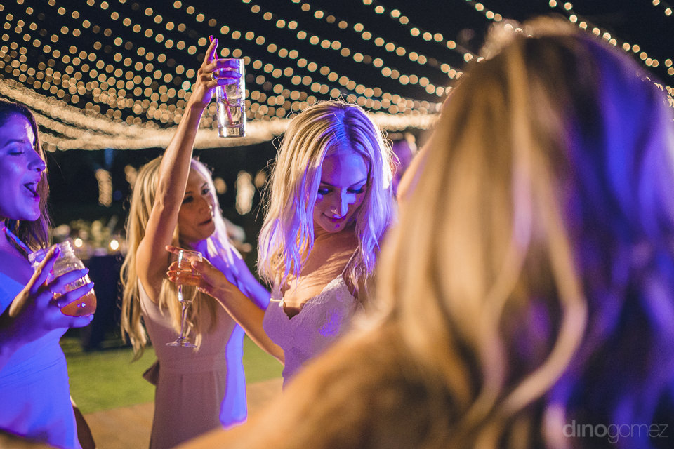 cabo mexico dj alex wedding music reception bridesmaids dancing
