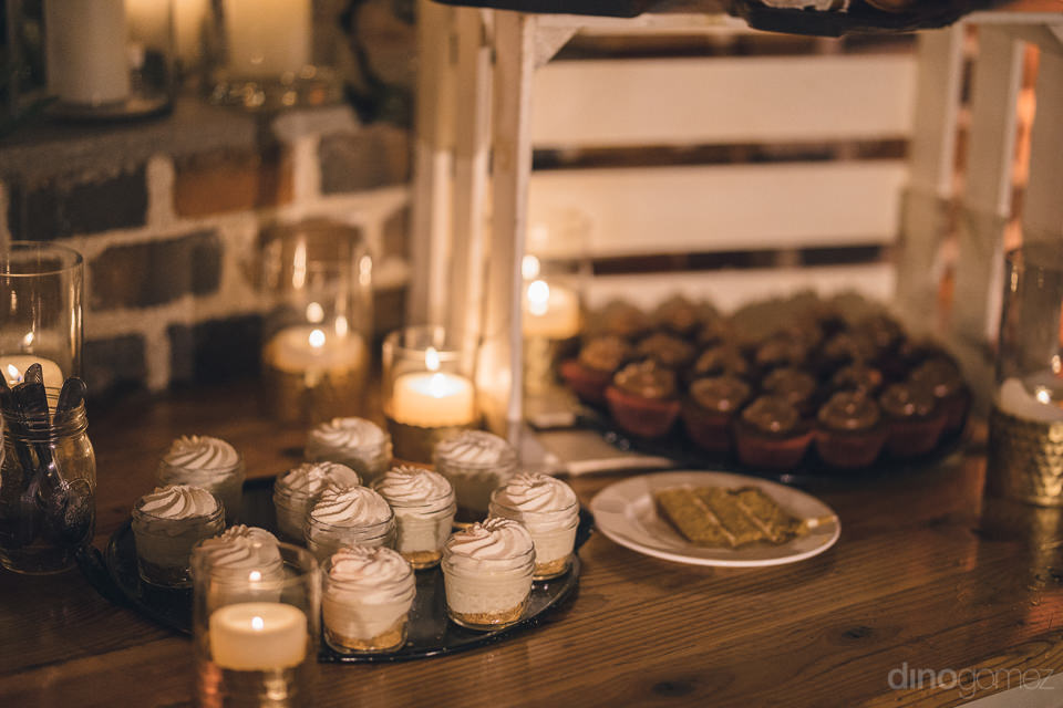 desserts at luxury wedding at flora farms