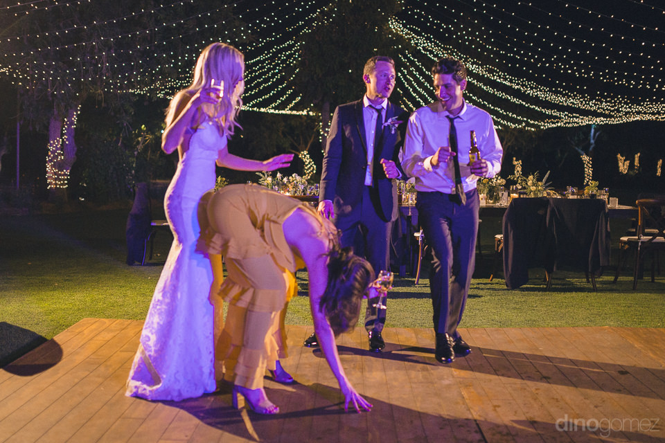 couples dance on the dance floor at flora farms wedding receptio