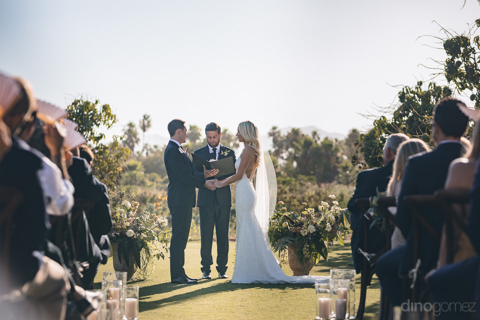 picture perfect wedding ceremony at story-book like farm in cabo