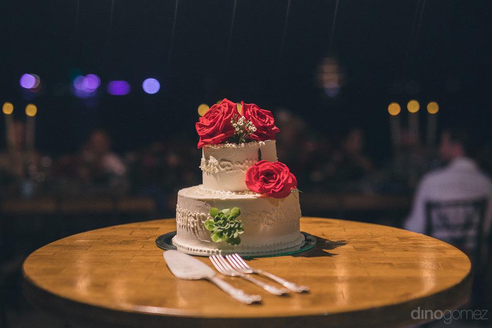 Loren & Taryn's wedding cake