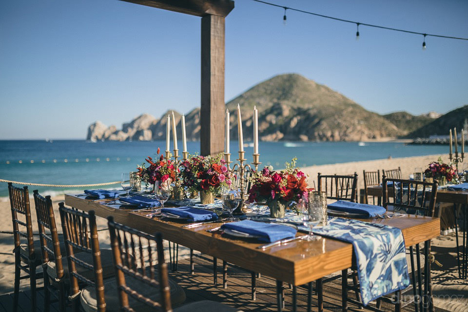 table setup on Medano Beach
