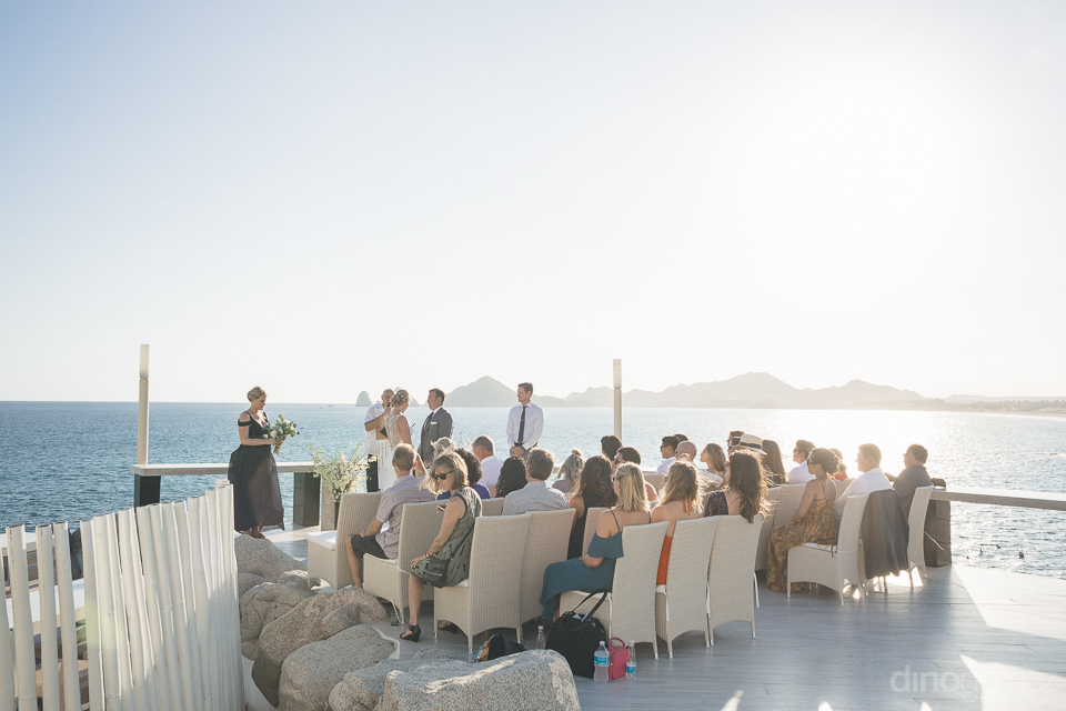 Gorgeous view of Kara & Will's ceremony at Sunset Da Monalisa