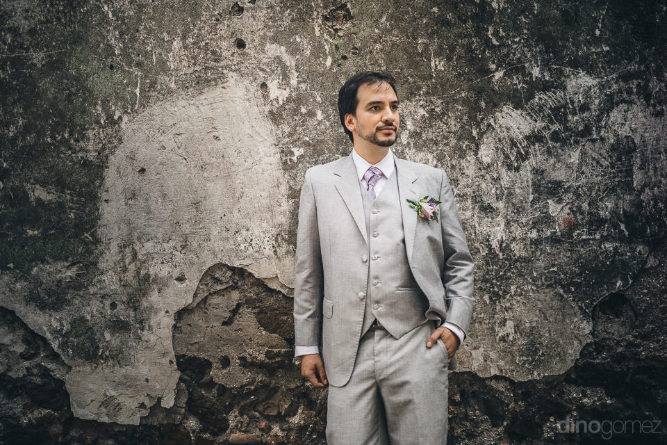 hacienda casasano wedding handsome groom photography in mexico b