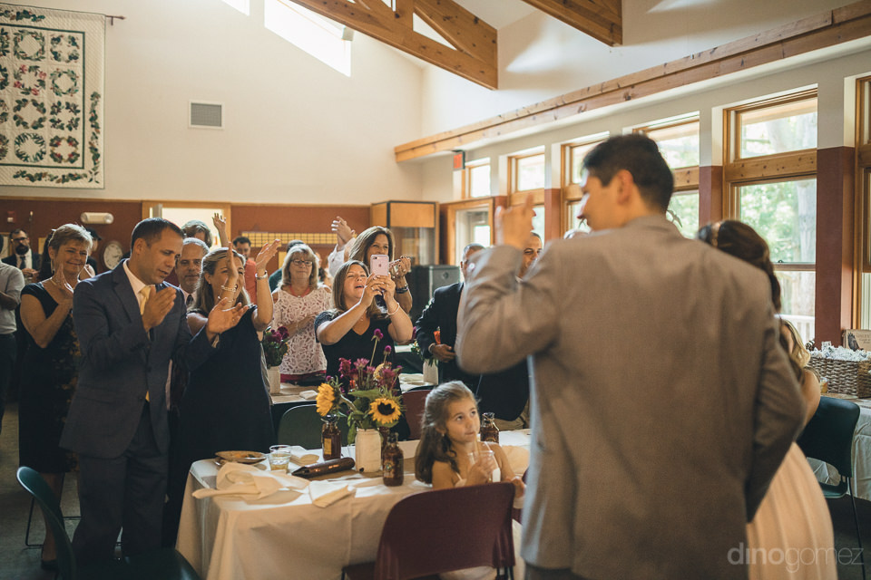 nature center wedding reception in upstate new york photographed