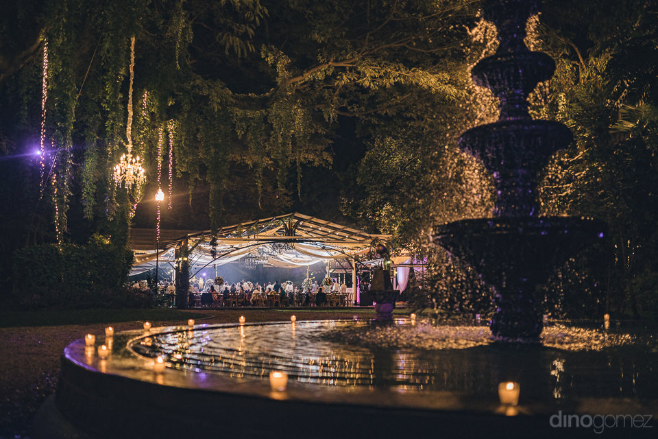 wedding venues in mexico hacienda casasano reception at night ph