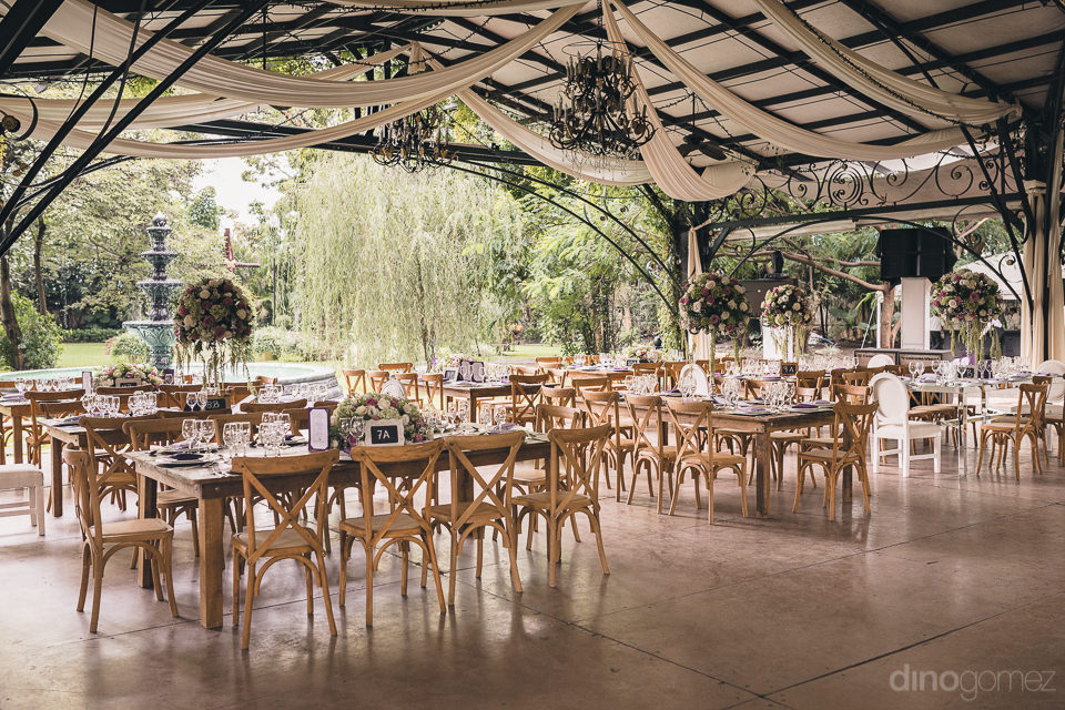 wedding reception at hacienda casasano in mexico