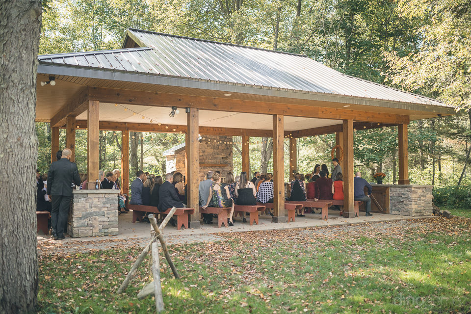 upstate new york wedding ceremony in nature center
