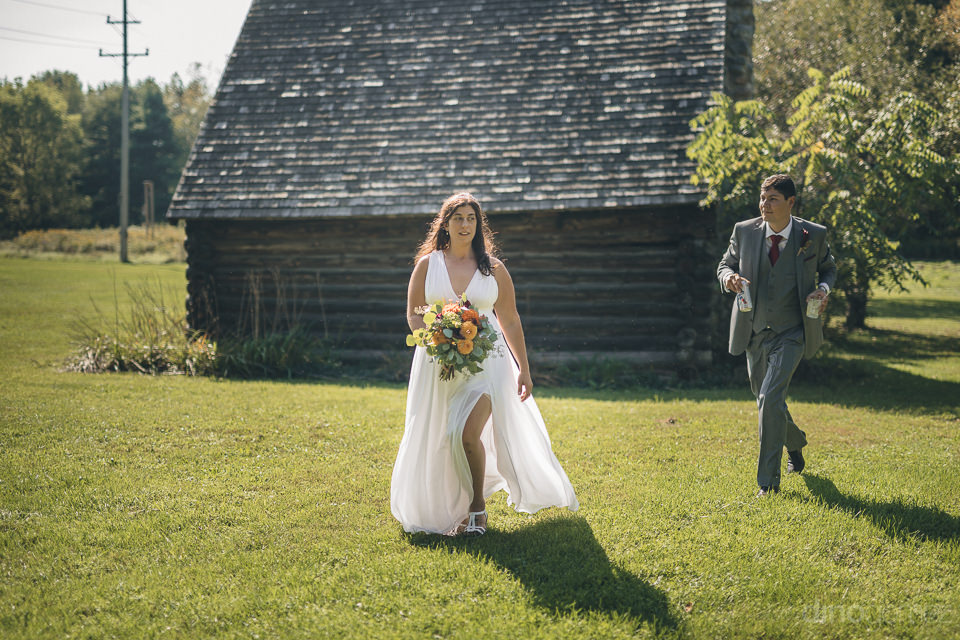 new york state countryside wedding radiant bride in field