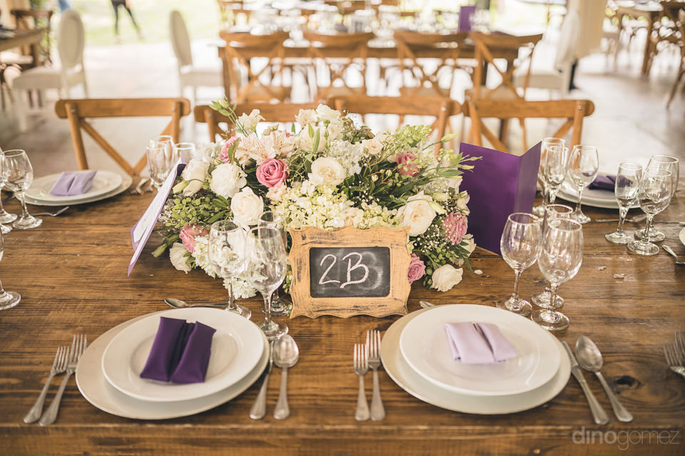 Beautiful Wedding Dinner Place Setting In Mexican Hacienda Photo No