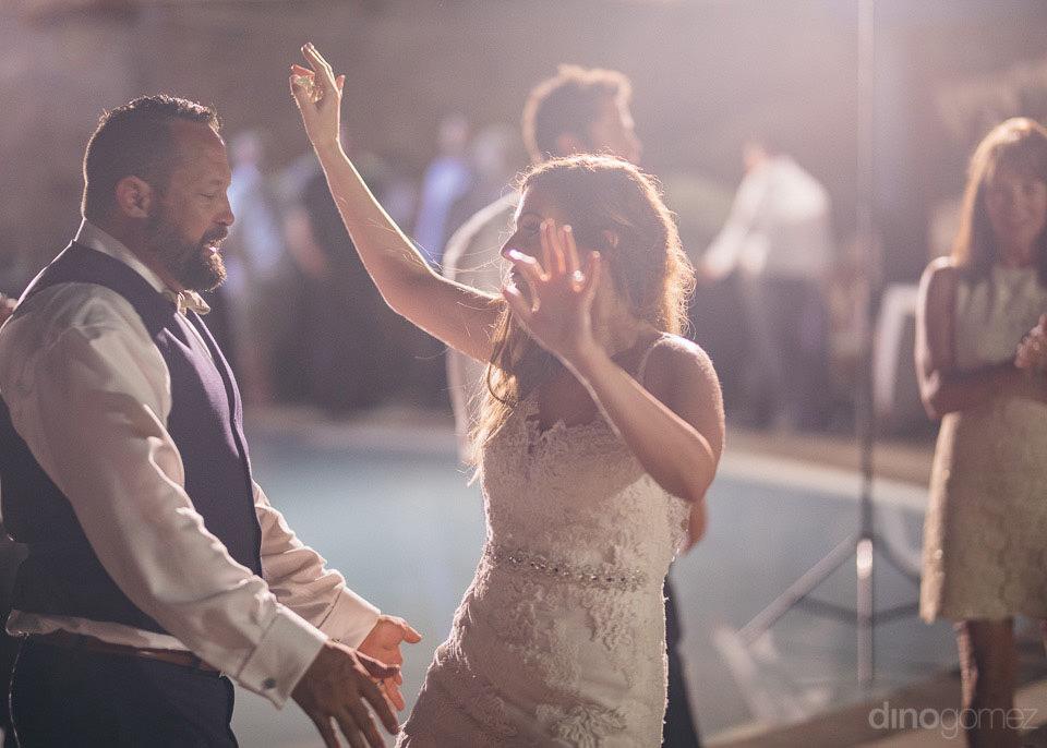 small backyard wedding reception - Deirdre & Rob