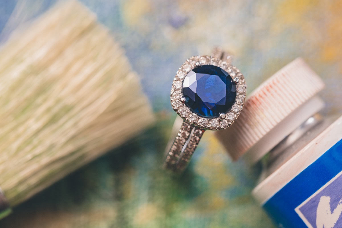 The Sapphire & Diamonds ring I gave my wife