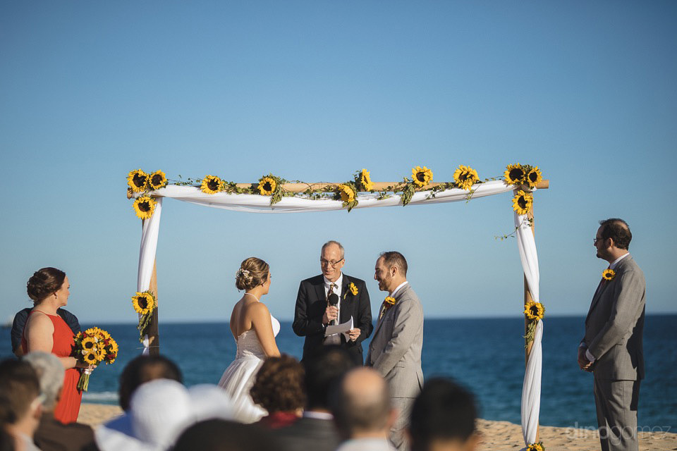 Wedding ceremony on the beach - Jo & KC's Wedding in Cabo - Jo & KC's Wedding in Cabo