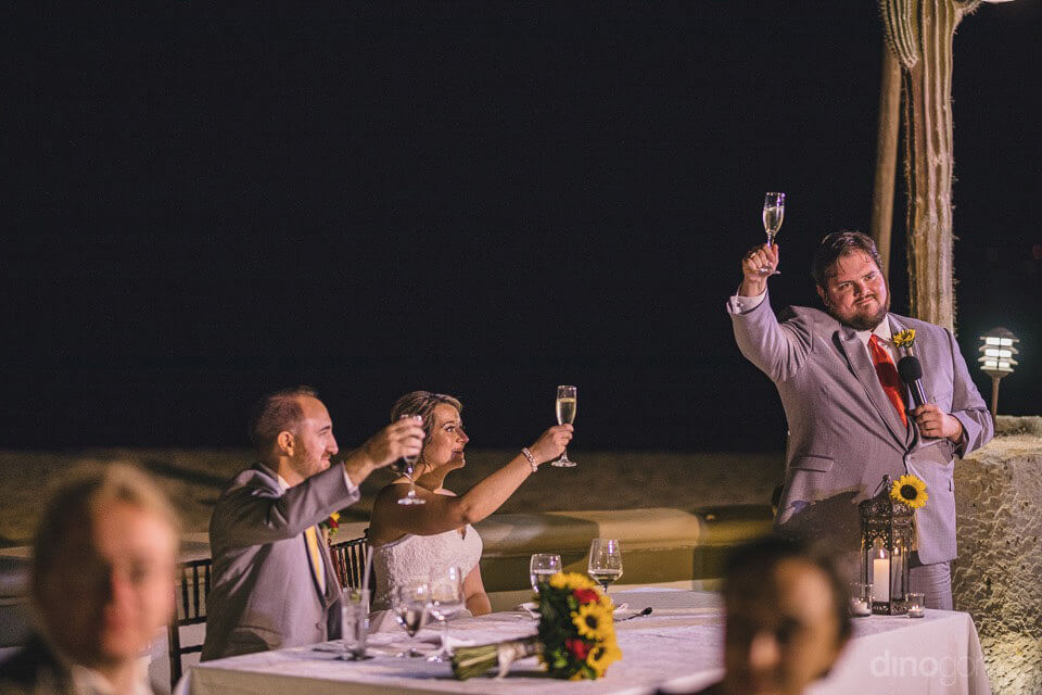 best man's speech and toasing - Jo & KC's Wedding in Cabo