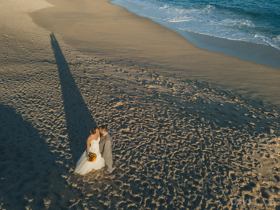 Drone photo of the bride and groom - Jo & KC's Wedding in Cabo