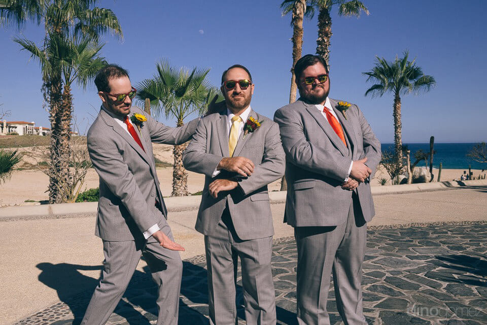photo of groom and groomsmen - Jo & KC's Wedding in Cabo