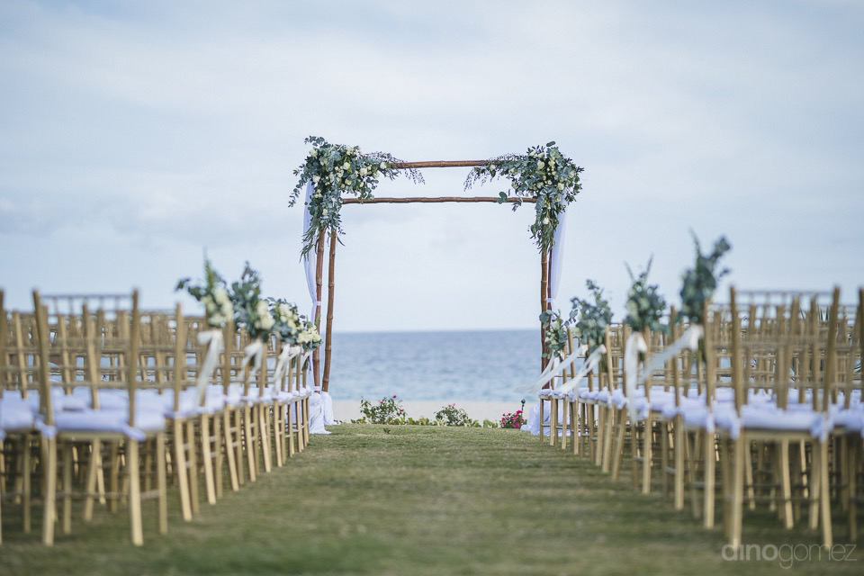Arch setup of the ceremony - Chiara & Jeremee