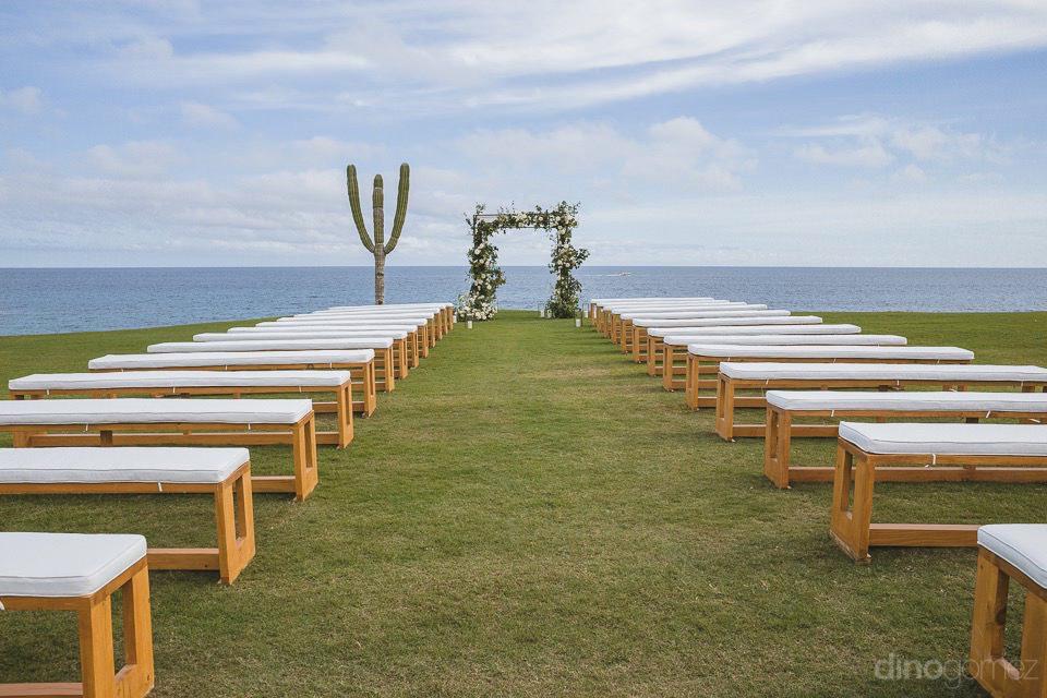 Beach wedding set up - Megan & Andrew's Wedding