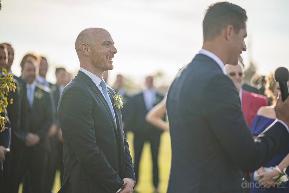 Groom looking at the bride - Megan & Andrew's Wedding