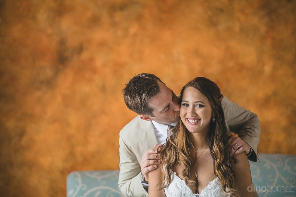 Prety photo of bride and groom - Chiara & Jeremee