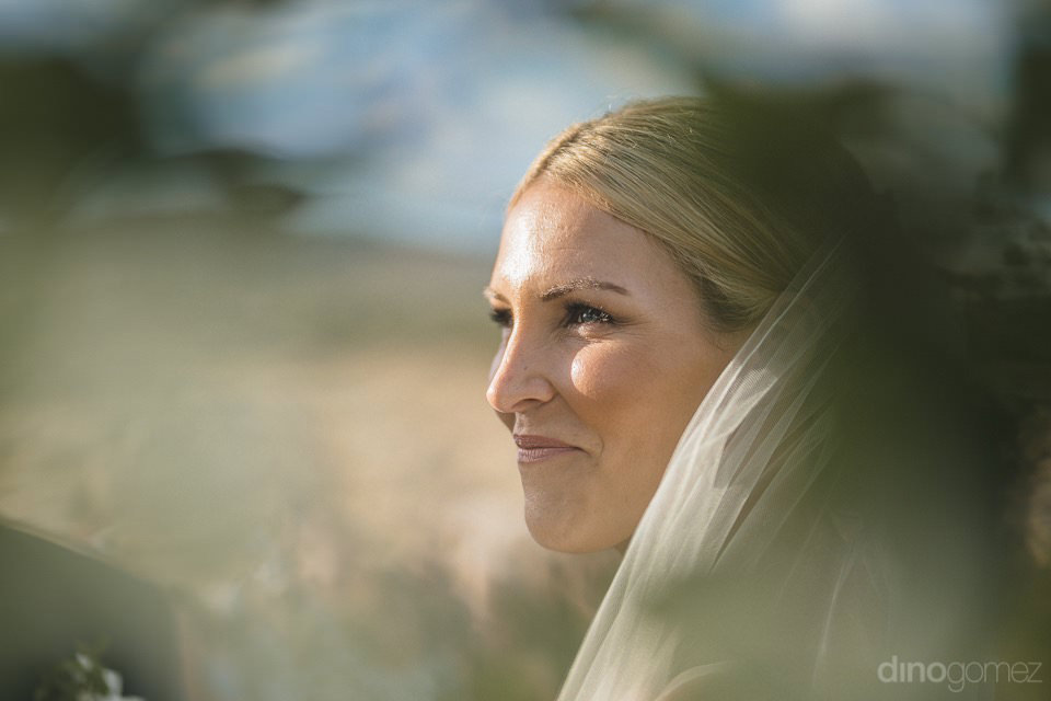 Bride Smiling At The Groom - Megan & Andrew'S Wedding