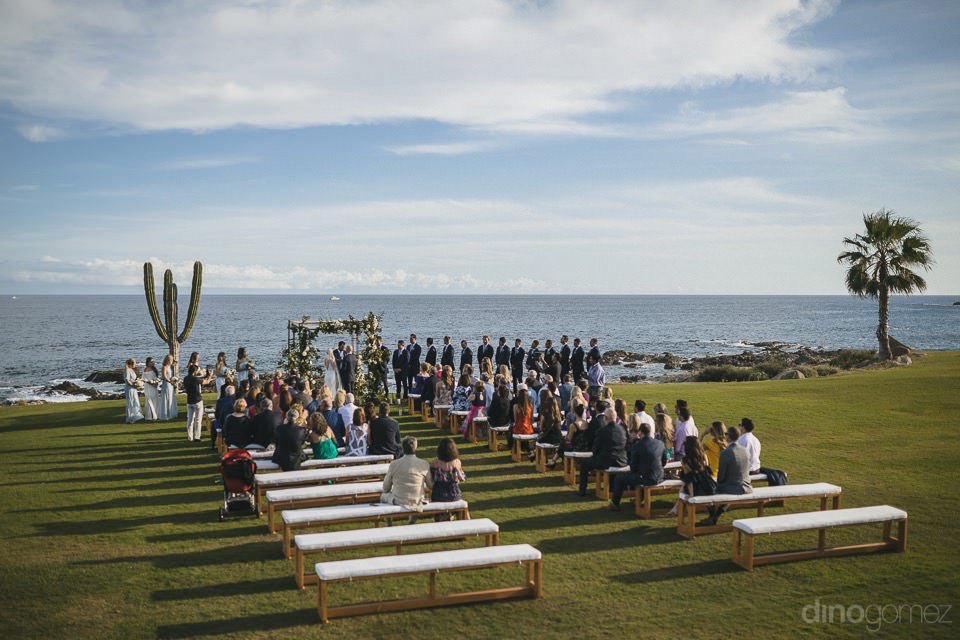 Pretty Photo Of The Ceremony From Behind - Megan & Andrew'S Wedding