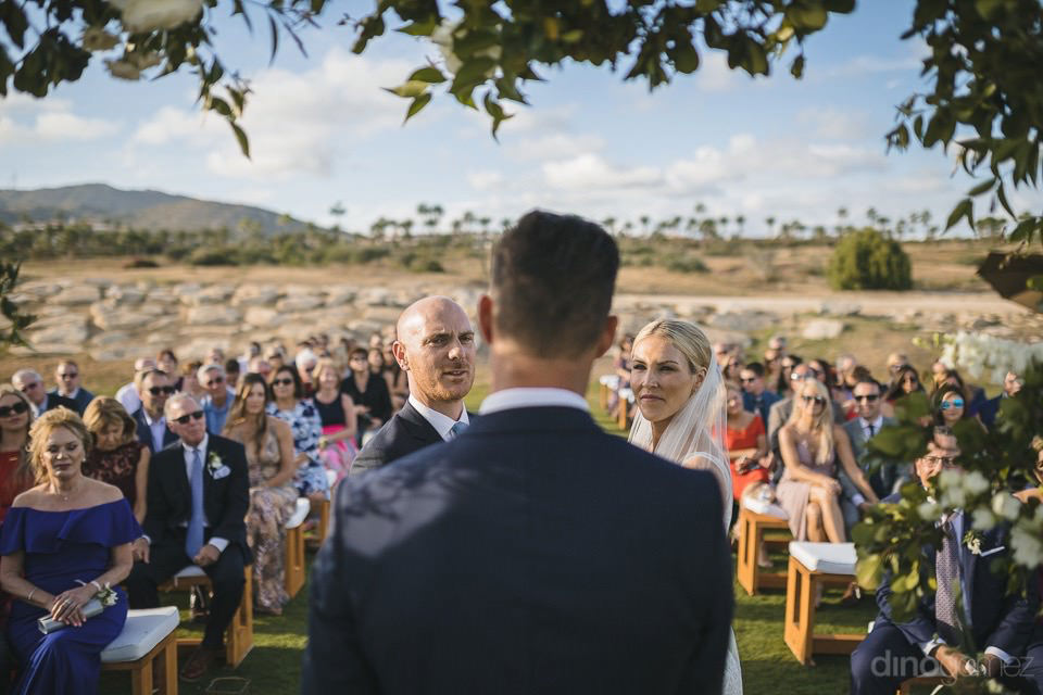 Photograph of the wedding ceremony - Megan & Andrew's Wedding