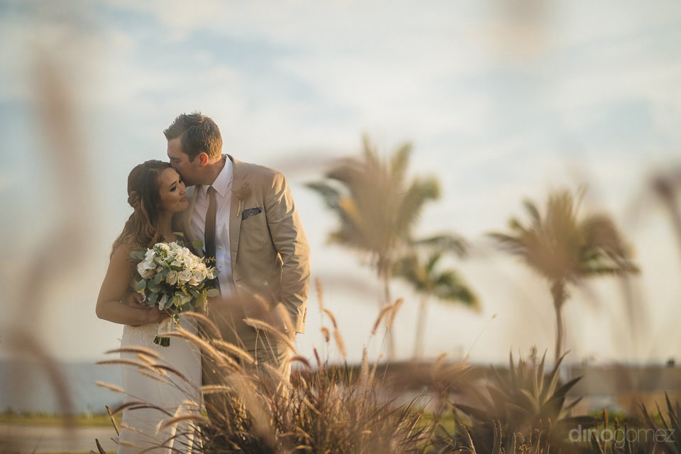 sweet photo of bride and groom - Chiara & Jeremee