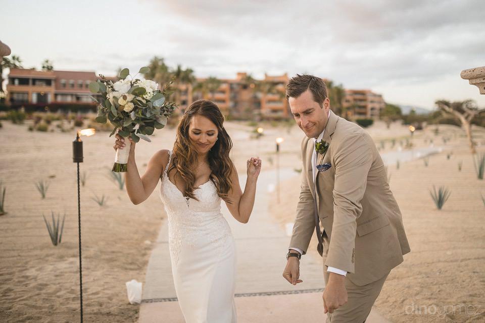newlyweds entering the reception - Chiara & Jeremee